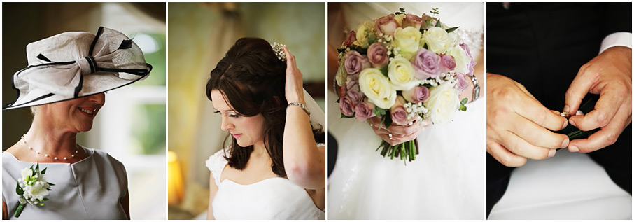 Montage of wedding photograph images